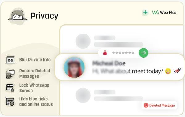 WA Web Plus for WhatsApp y su función para mayor privacidad