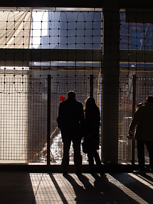 visitors at World Trade Center site, NYC