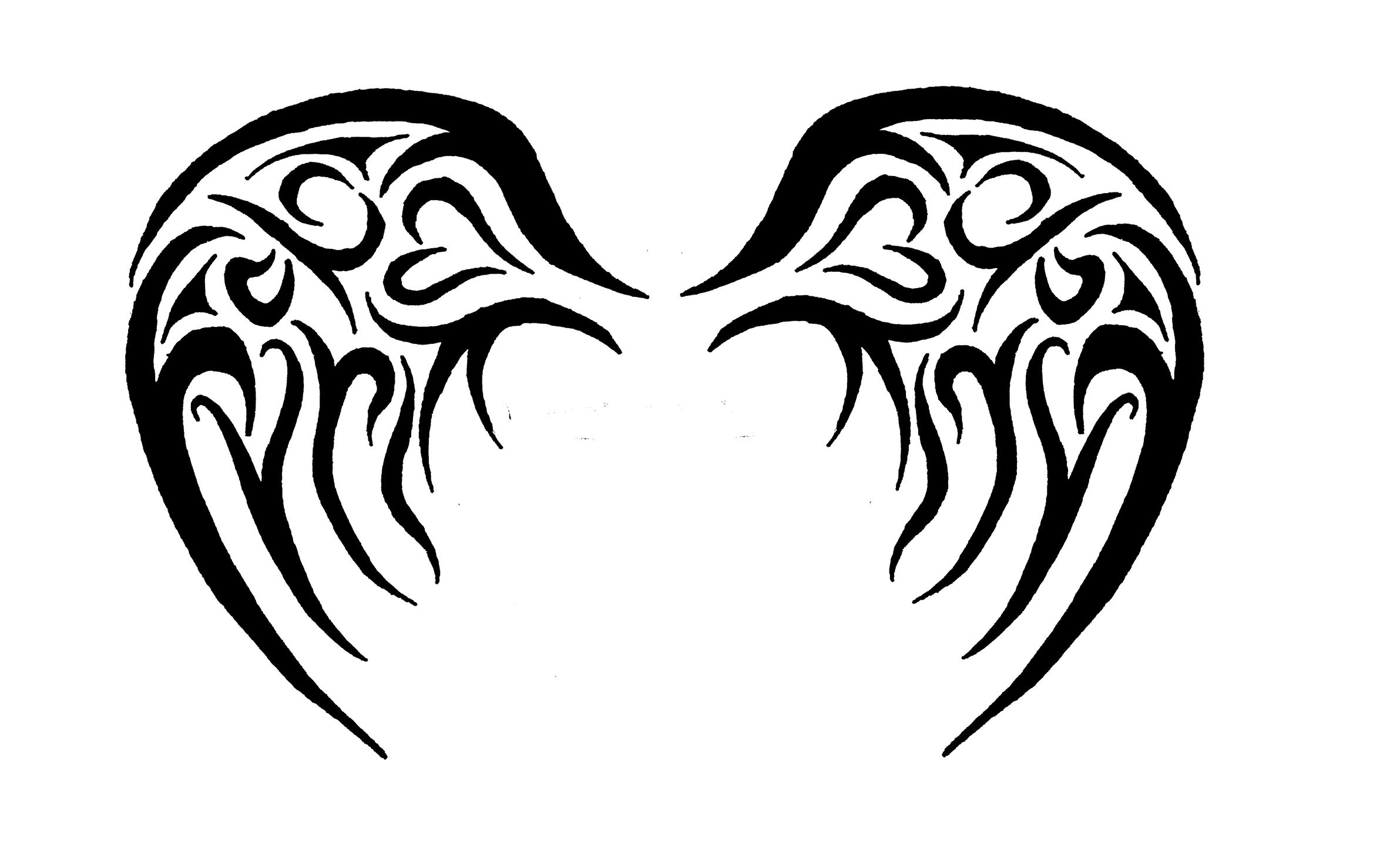 Black Angel Wings Drawing At Getdrawingscom Free For Personal Use