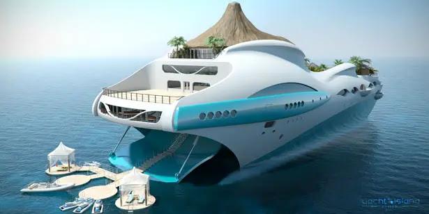 Tropical Island Paradise by Yacht Island Design