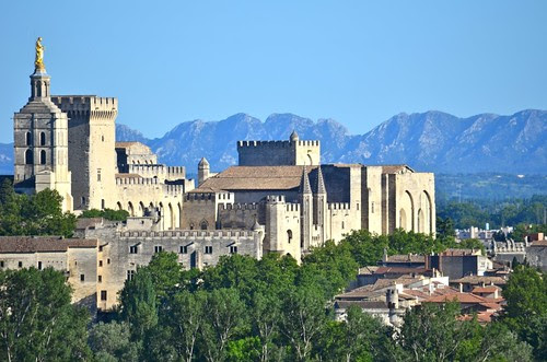 Palais des papes - from Villeneuve-les-Avignon