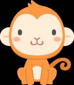 猿の無料ベクターイラスト素材 Picaboo ピカブー 無料ベクターイラスト素材