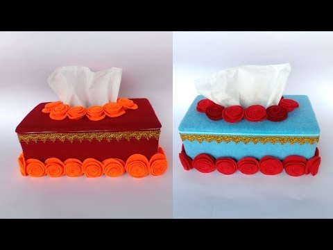 Cara Membuat Kotak Tisu Dari Kardus Sepatu Dan Kain Flanel ...