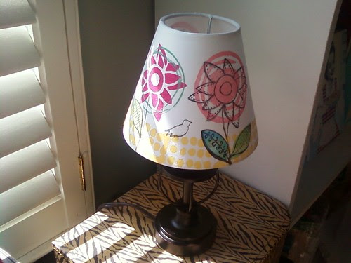 Lampshade created w my new stamp line