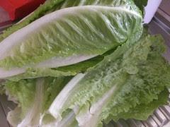 cleaned garden lettuce