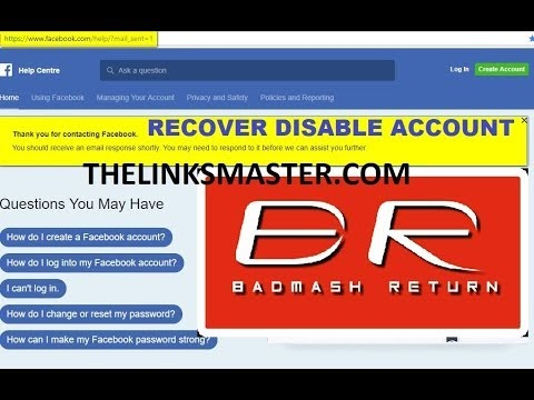 Disable Facebook Account ! My Personal Account Was Disabled ! Submit Appeal