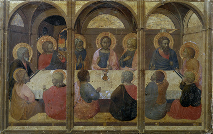 Sassetta The Last Supper Painting Memoryprintscom High