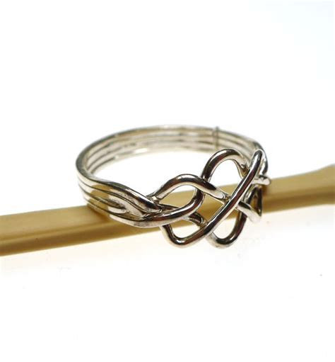 Sterling Silver Celtic Puzzle Ring, 4 Band Celtic Knot
