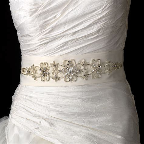 * Beautiful Beaded Wedding Sash Bridal Belt 20
