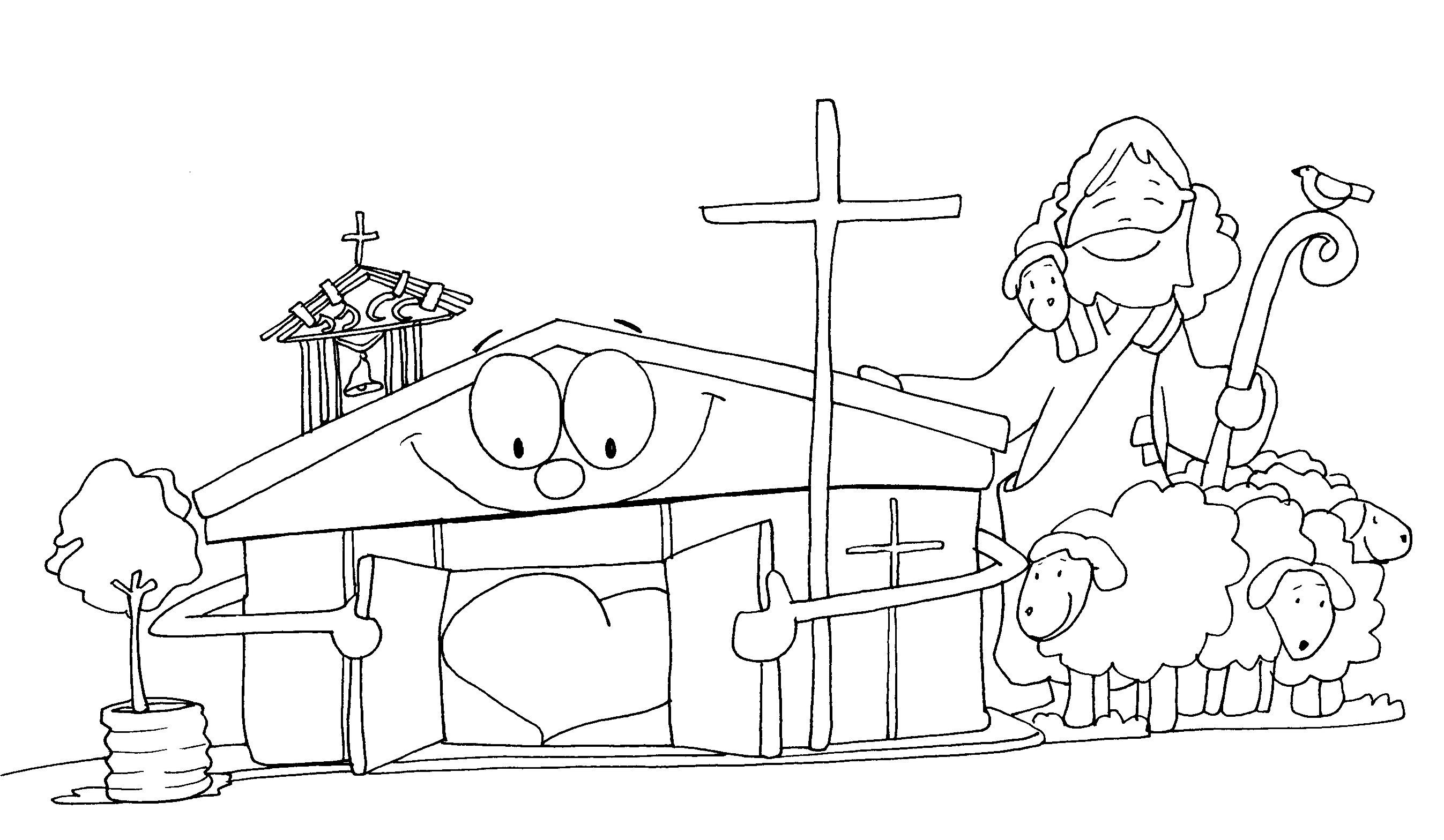 RECURSOS PARA MI CLASE DE RELIGIÓN CATÓLICA: FICHA PARA COLOREAR: EL ...