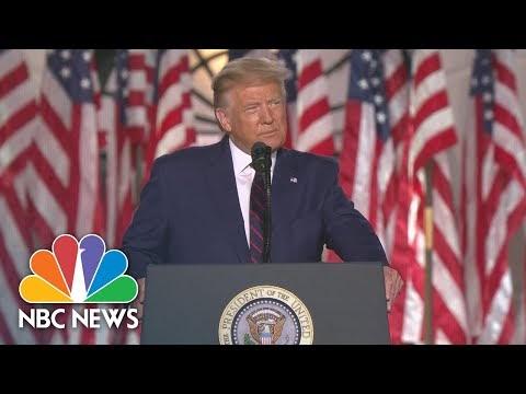 Watch President Trump's Full Speech At The 2020 RNC