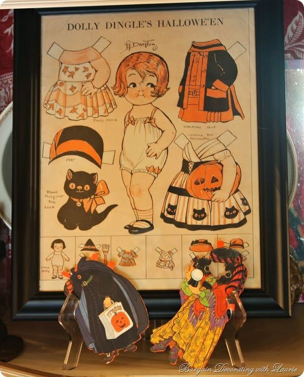Halloween paper doll-Bargain Decorating with Laurie