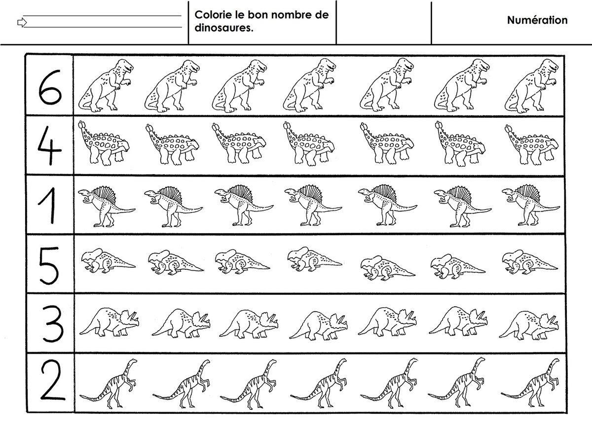 dinosaures numération  6