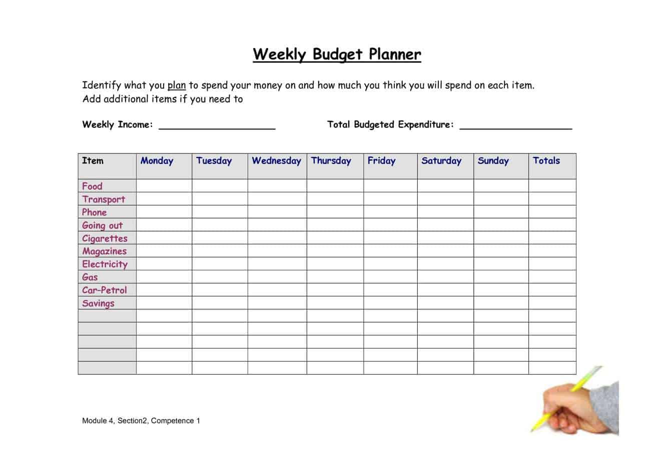 Weekly Budget Planner 4