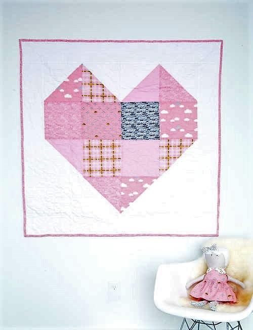 Little Heartbeat Baby Quilt