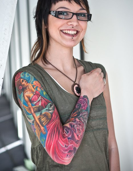 Long Dress Graceful Women Tattoo Sleeve Best Tattoo Ideas Gallery
