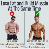 lose fat  build muscle    time eat  bulk