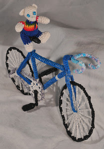 thread bear on a thread bike