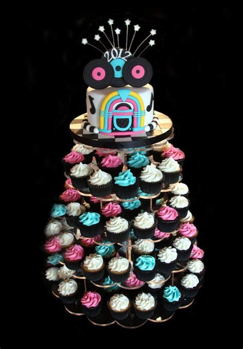 50s wedding theme ideas   CF 50s Theme Graduation cake and