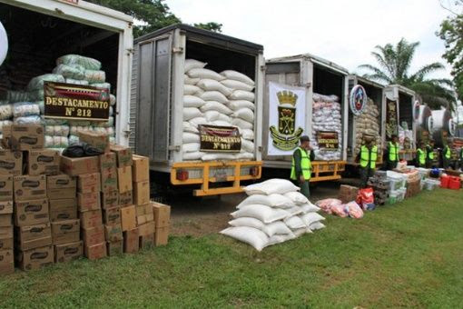 Foto referencia: el contrabando de alimentos forma parte de la política de desestabilización de los golpes blandos.