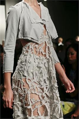Details from New York Fashion Week s/s 2013 runways.