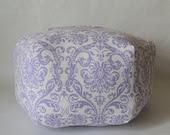 "24"" Ottoman Pouf Floor Pillow Lavender Abigail - aletafae"