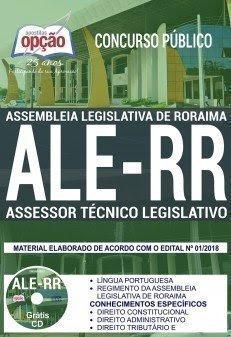 Apostila Concurso ALE RR 2018 | ASSESSOR TÉCNICO LEGISLATIVO