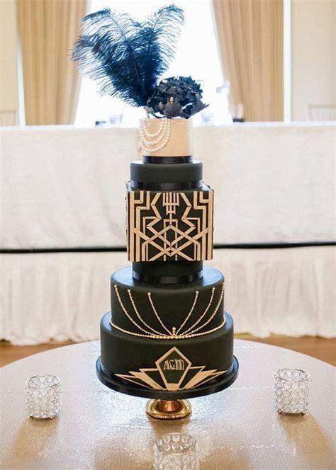 27 Refined And Bold Art Deco Wedding Cakes   Weddingomania