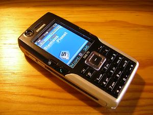 English: Siemens SXG75 mobile phone, Metallic ...
