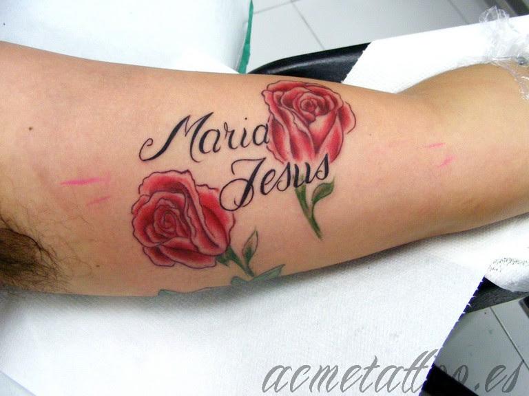 Tatuajes Nombres Con Flores Excellent Fabulous Foto De Tatuaje