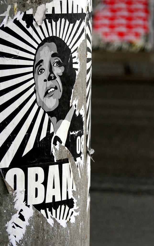 Torn Obama Poster