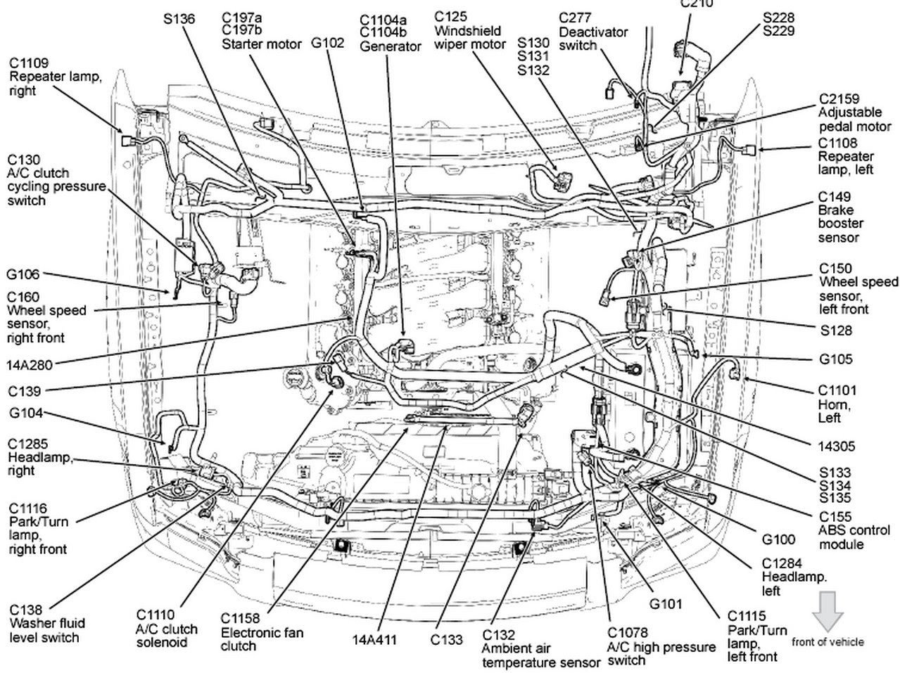 2006 ford explorer engine diagram best wiring library 2003 Ford Explorer Suspension Diagram 2006 ford explorer 6 cyl sohc problem with front wiper motor