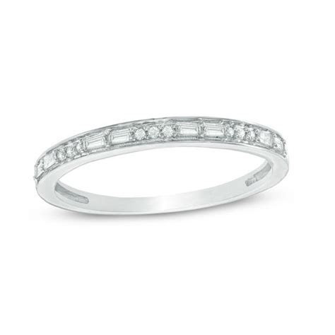 1/8 CT. T.W. Baguette and Round Diamond Alternating
