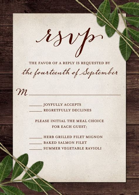 Wedding RSVP Wording and Card Etiquette 2019   Our Wedding