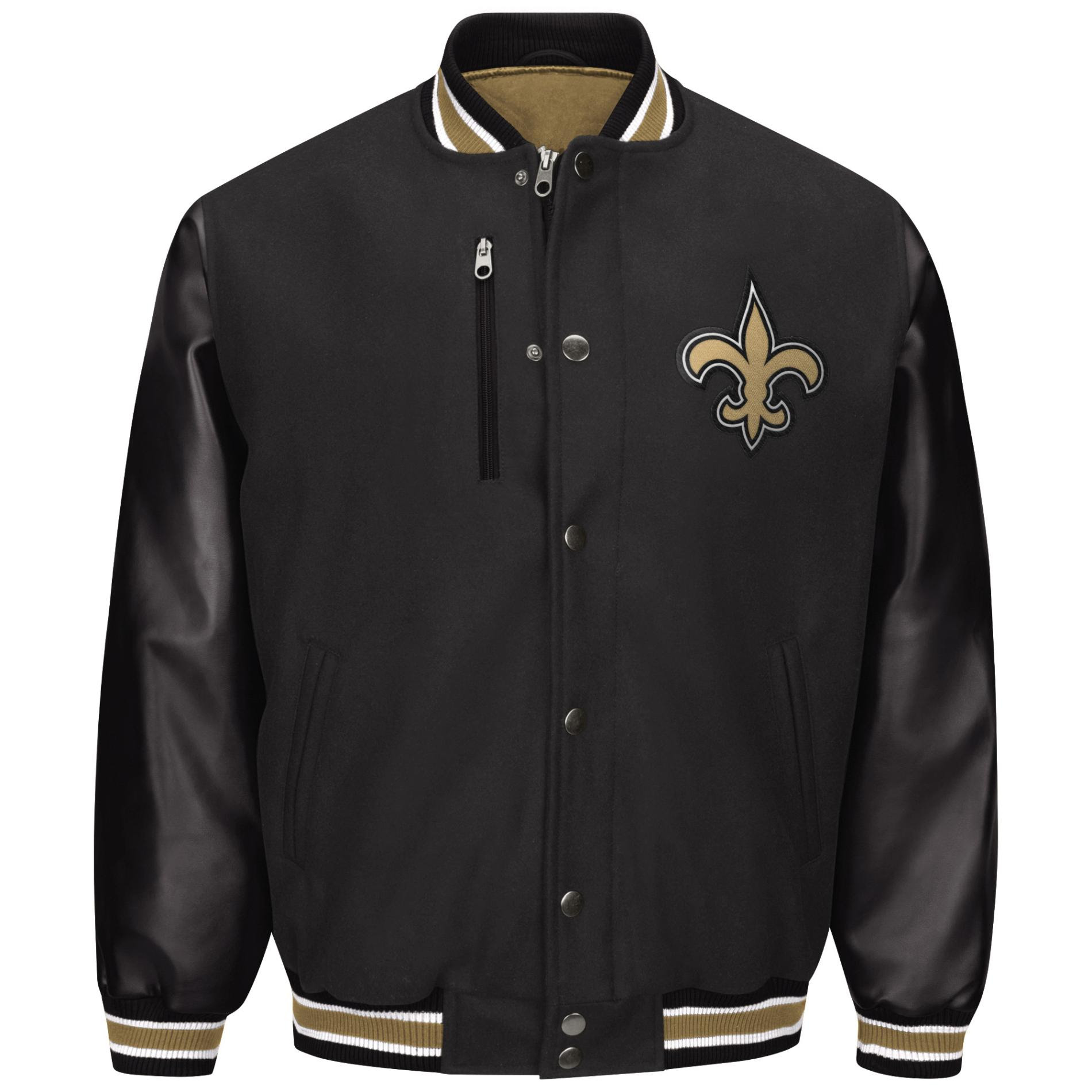 NFL Mens Varsity Jacket  New Orleans Saints