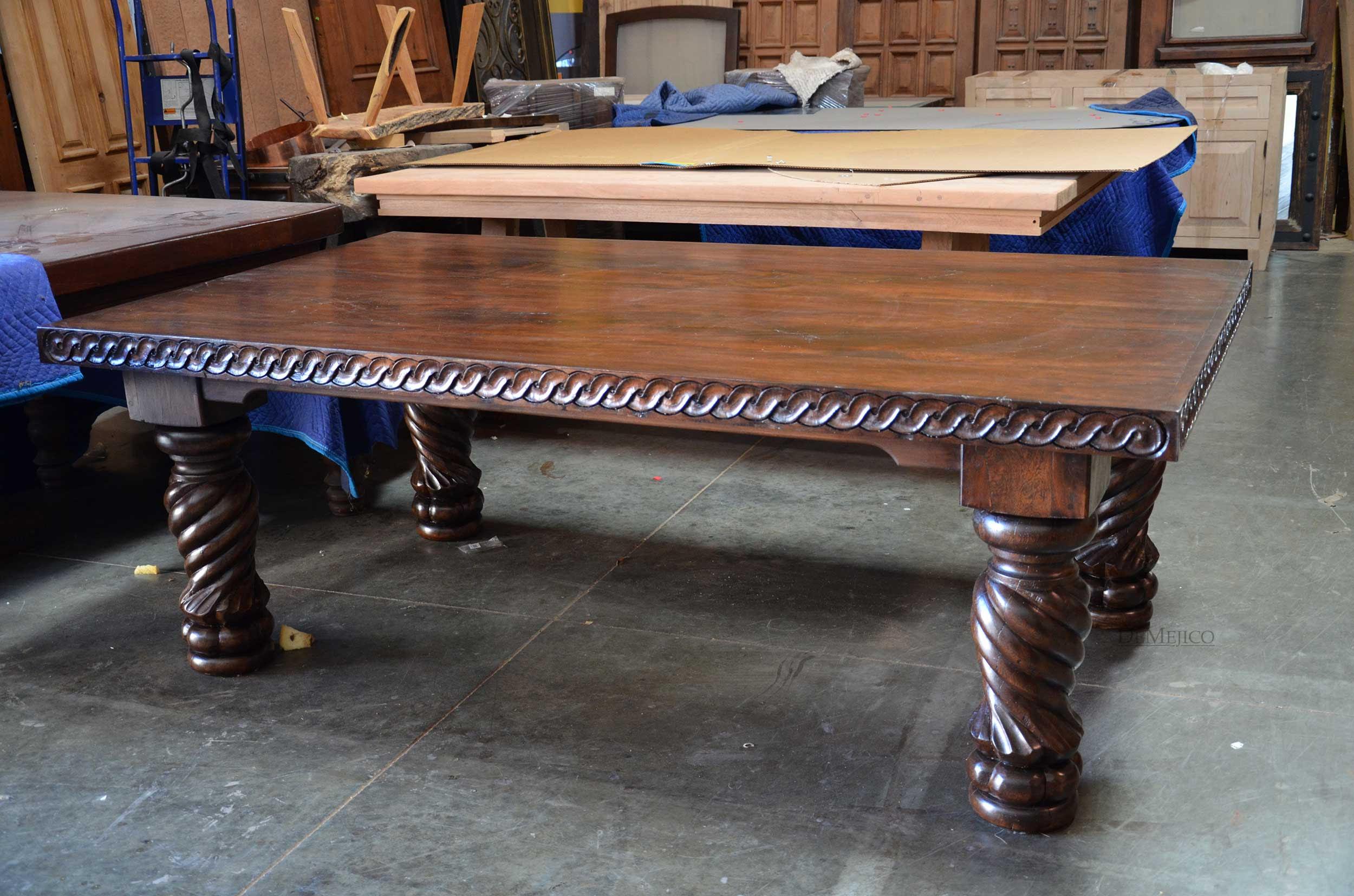 Mesa Indonesia Esp, Spanish Carved Dining Table-Demejico