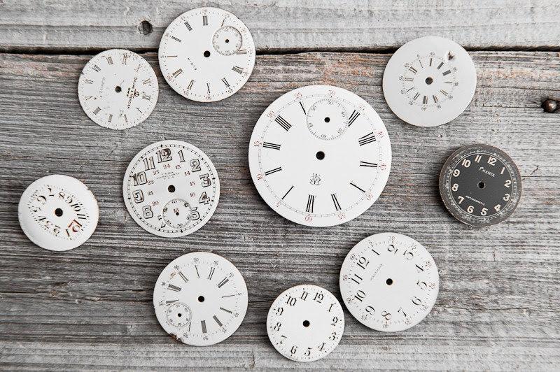 Vintage Porcelain Pocket Watch Faces