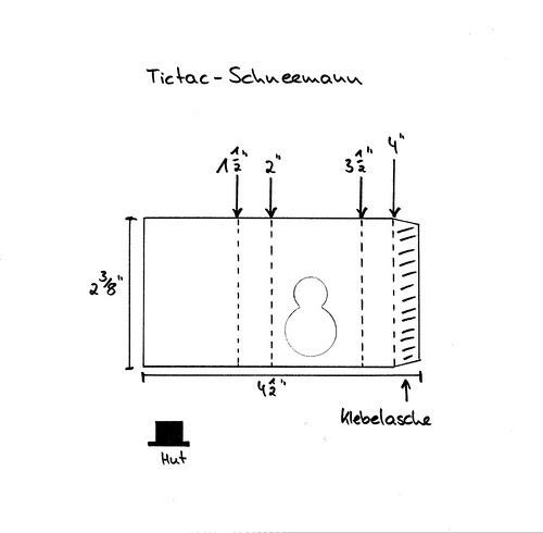 Tictac-Schneemann klein