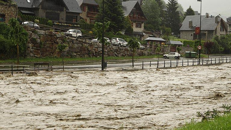 Inundaciones en el Valle de Arán y norte de Aragón
