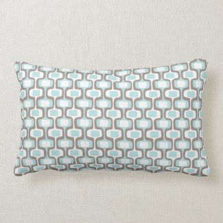 Heathered/Blue Pattern Pillow throwpillow