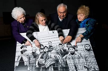 79-year-old Miriam Ziegler, 81-year-old Paula Lebovics, 85-year-old Gabor Hirsch and 80-year-old Eva Kor (Photo: Getty Images)