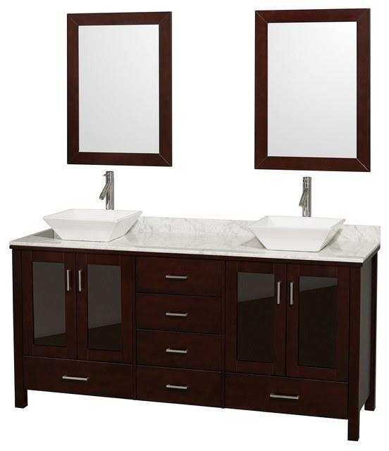 Double Bathroom Vanities - contemporary - bathroom vanities and ...