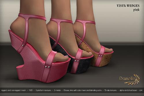 DANIELLE Vista Wedges Pink