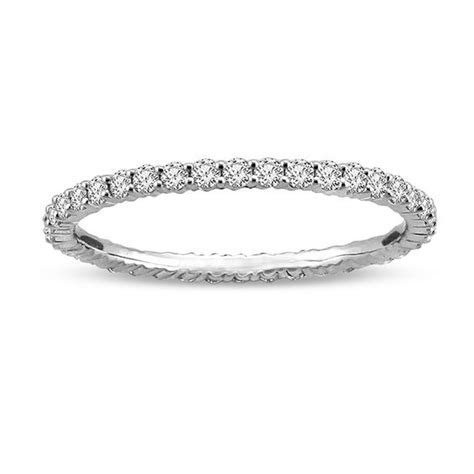 1/2 CT. T.W. Diamond Eternity Wedding Band in 14K White