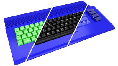 teclado commodore colores - 1
