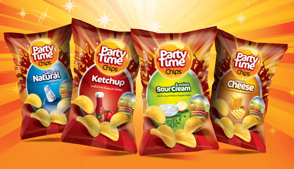 PARTY TIME CHIPS Packaging Design 30+ Crispy Potato Chips Packaging Design Ideas