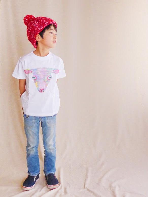 MotokoTakaheiオリジナルTシャツ【やぎ】90~130