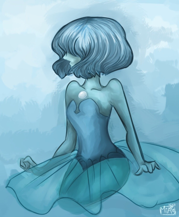 here's a blue pearl I finished the other night, it was sitting in my WIP folder for like 2 years