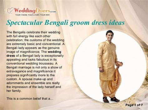 Spectacular bengali groom dress ideas