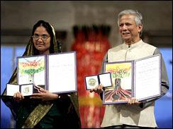 Mosammat Taslima Begum et Muhammad Yunus, Nobel de la Paix 2006